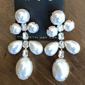 NWT KENNETH JAY LANE Mixed Gemstone Drop Earrings